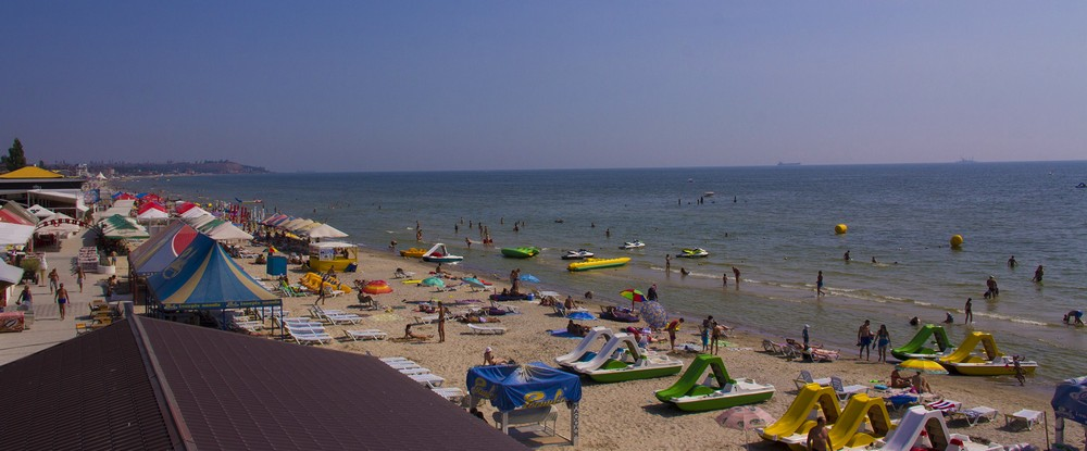 пляж коблево