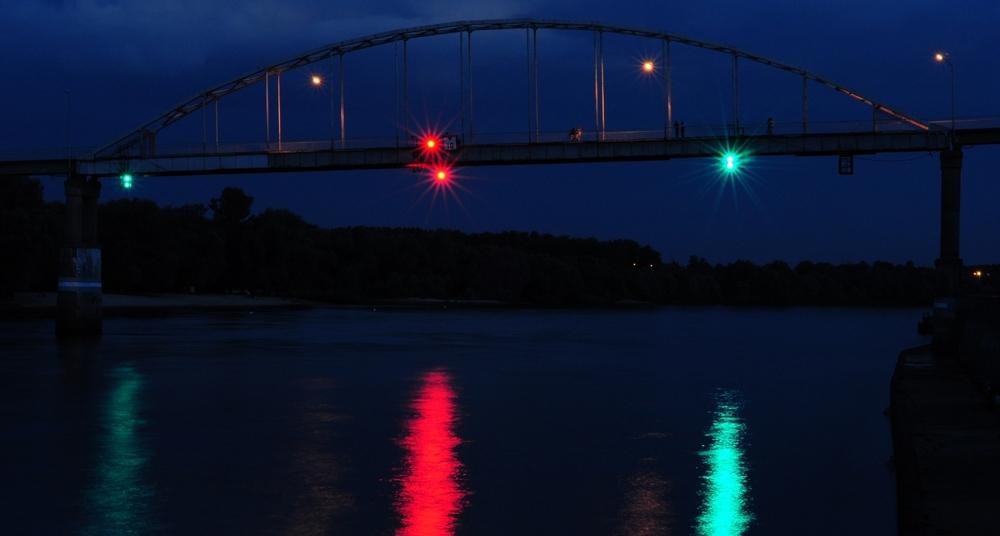 мост через сож ночью