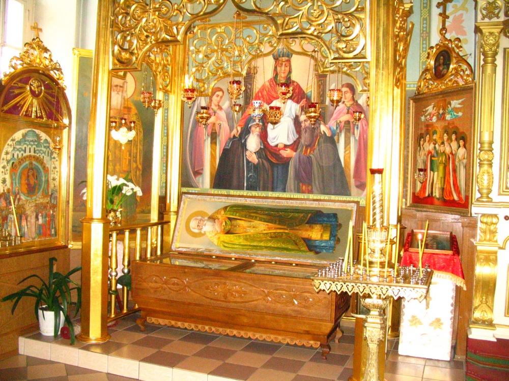 мощи в храме д.Корма