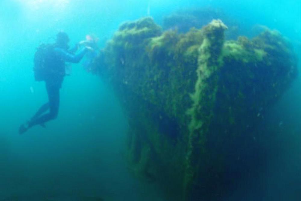 затонувший корабль Витязево